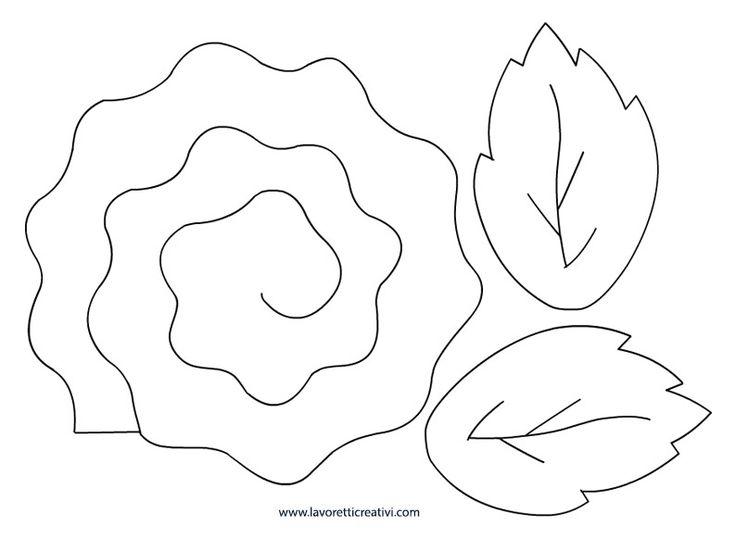 SAGOME ROSE Sagome di varie grandezze utili per realizzare rose in 3D di feltro, di stoffa o gomma crepla.