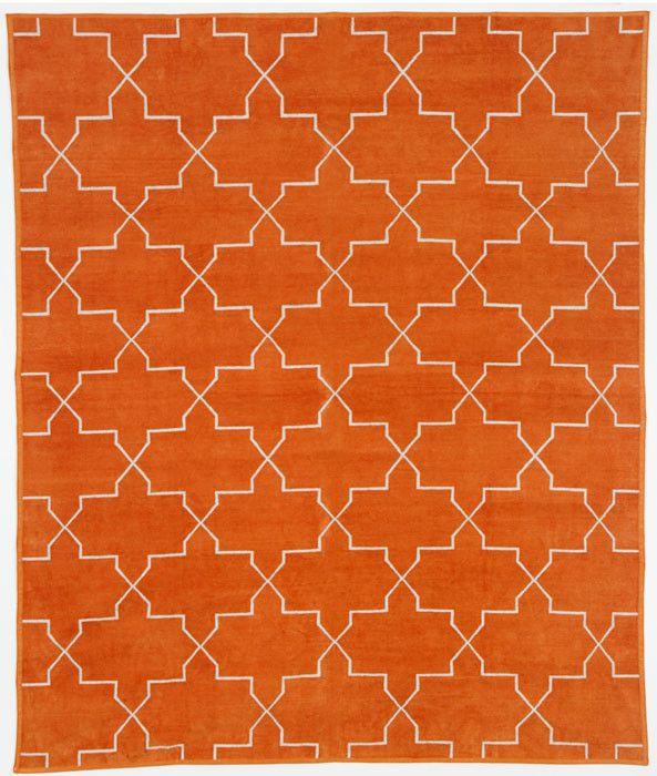 Tangerine Brooke Chenille Metallic Carpet