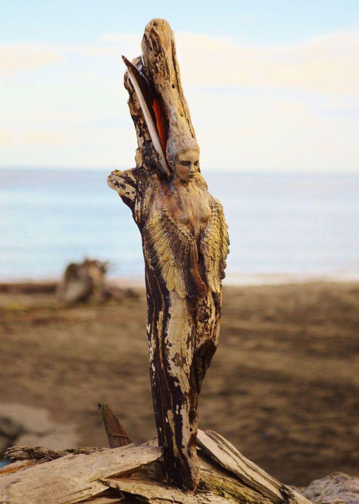 10+ Stunning Driftwood Sculptures By Debra Bernier Tell The Forgotten Stories Of The Ocean | Bored Panda