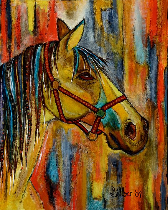 New Archival Print horse quietly waiting by OriginalArtbyCassie,