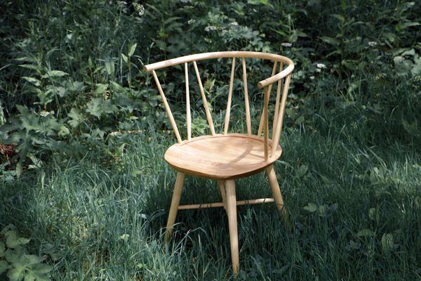 Windsor chair prototype, Ash and English Elm.