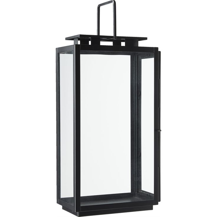 Lanterne i sort H45cm