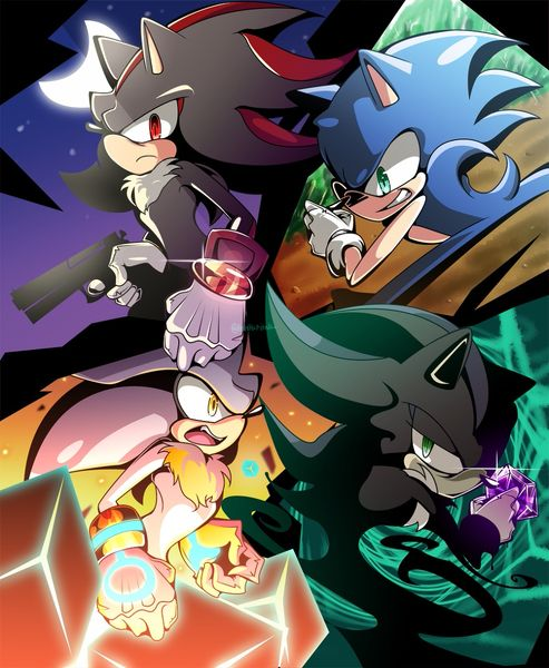 Sonic, Shadow, Silver and Mephiles