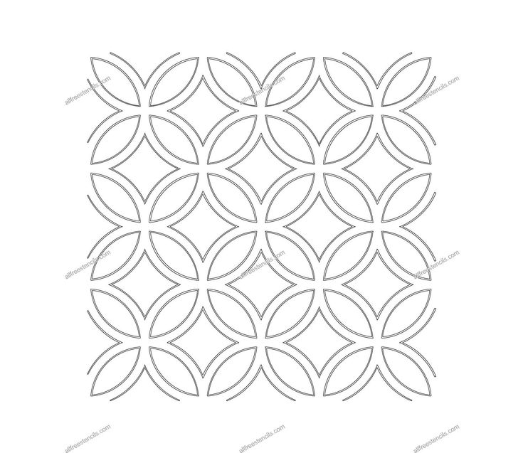 Moroccan stencils free download free printable stencil for Moroccan shapes templates