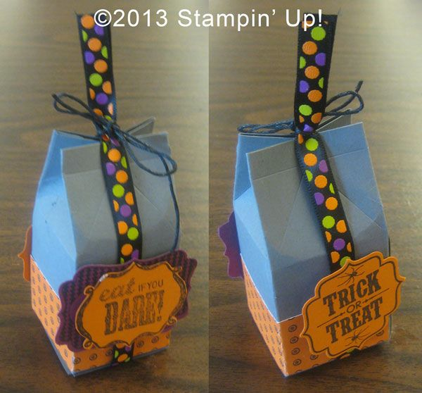 stampin up cards treat holder halloween bash tags 4 you - Halloween Cartons