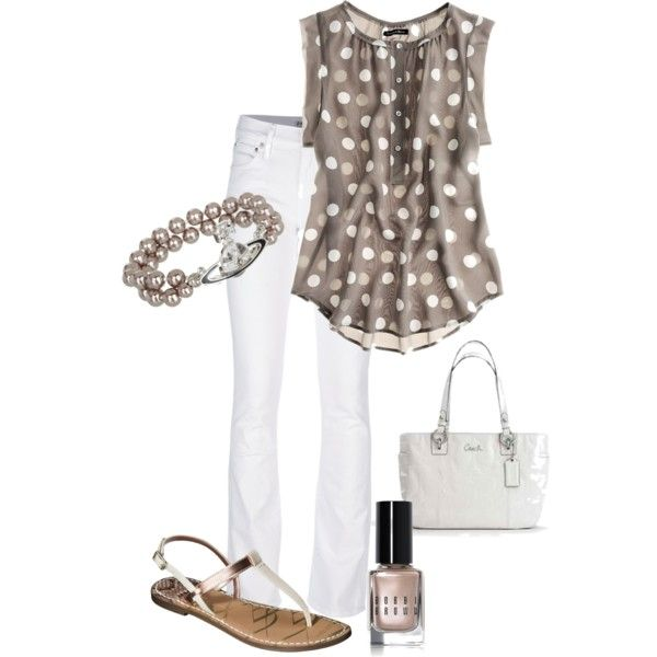 """""""Brown Pearls"""" by vintagesparkles78 on Polyvore"""