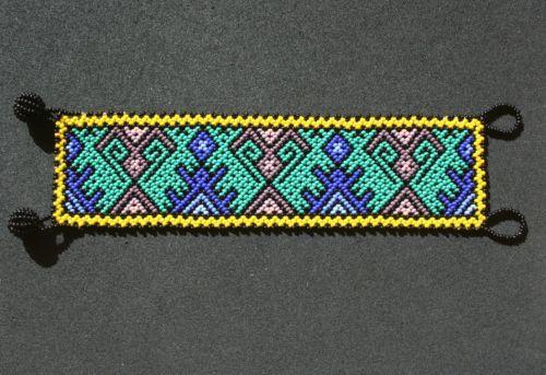 Huichol Armband Handarbeit Mexiko Bracelet Mexican Art Hand Beaded | eBay