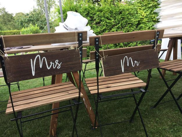 Mrs. & Mr. - Hochzeitsdeko Ideen DIY