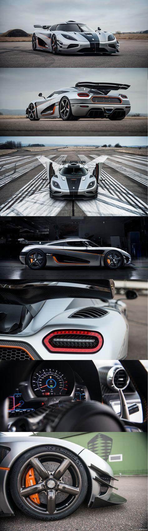 """El nuevo Koenigsegg One:1. El primer """"MEGACAR"""" en el mundo. Enlistado para destronar el Hennesey venom gt. con un record de 435 km/h. El one se modifico para alcanzar una maxima velocidad de 440 km/h. solo se fabricaron 6 de estos megacar's. Imaginen su precio. Tan increiblemente alto como su rendimiento!!"""