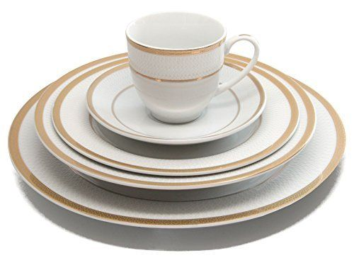 Royal Porcelain 20pcs White Net Dinner Set 24K Gold-Plated Bone China Dinnerware  sc 1 st  Pinterest & 13 best Dinnerware images on Pinterest | Dinnerware sets Dish sets ...
