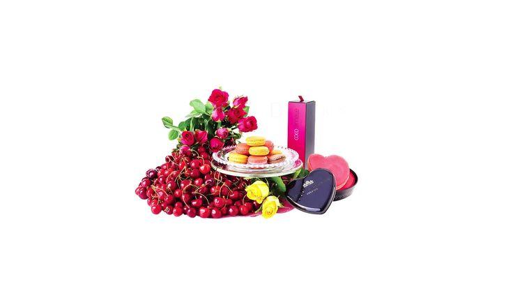 Colimonmon - roses et cerises livrées à La Réunion