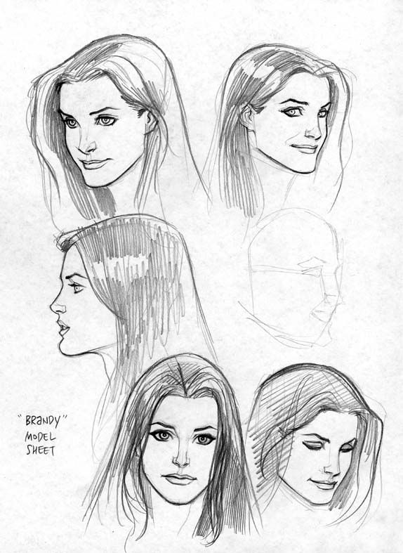 Brandy character sketches by Frank Cho