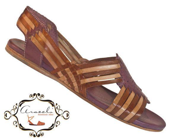 Beautiful huaraches 100 leather by AraceliHandmadeShoes on Etsy, $86.00