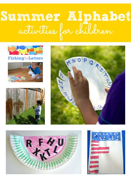 summer alphabet activities for kids - Pinned by @PediaStaff – Please Visit ht.ly/63sNtfor all our pediatric therapy pins