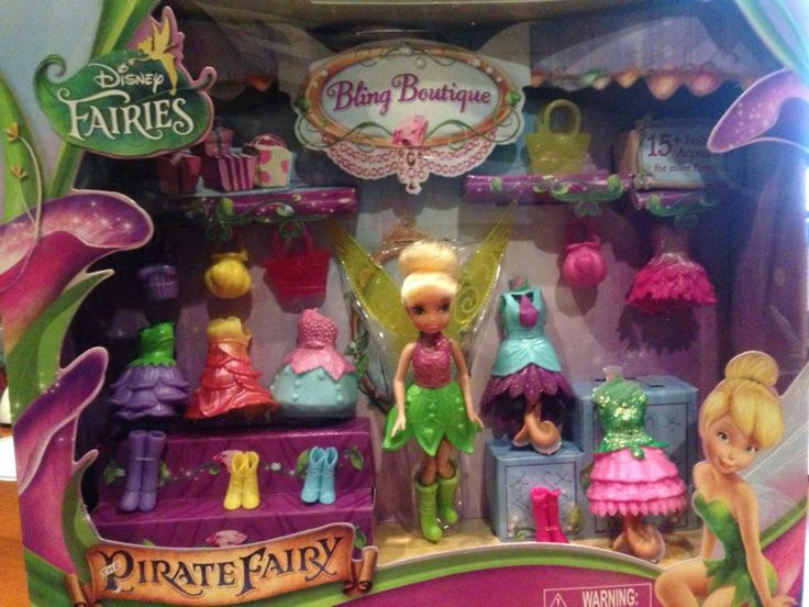 """Disney Fairies 4.5"""" Tink's Bling Boutique -Little girls can dress Tinkerbell up with so many gorgeous accessories from the new movie, Tinkerbell and the Pirate Fairy.-"""