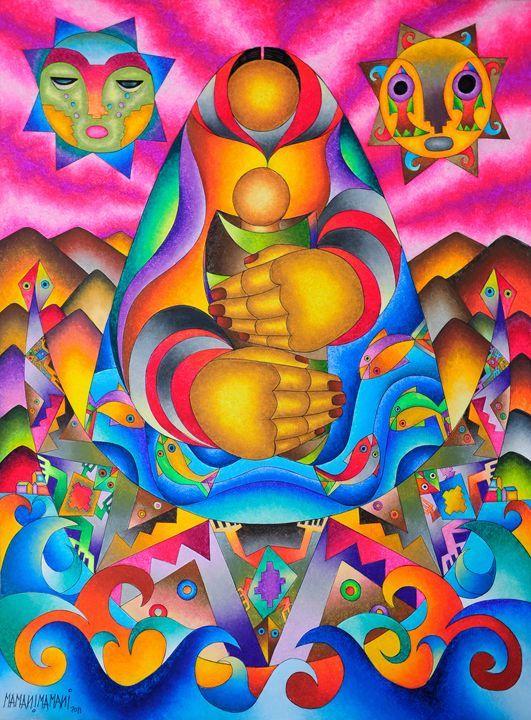 Nature's  Pachamama (Earth Mother) - MAMANI MAMANI