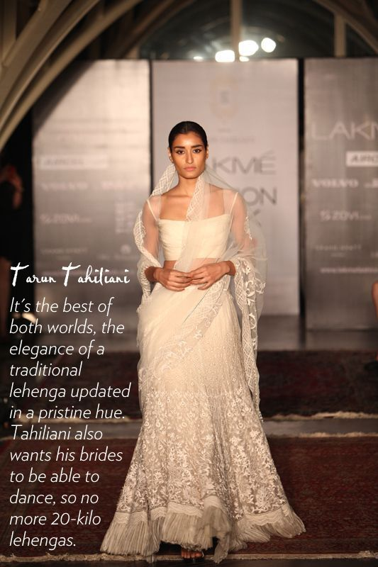 this white creation of Tarun Tahiliani at Lakme Fashion Week | fashion trends