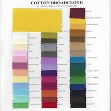 """Cotton Polyester Broadcloth Fabric Apparel 45"""" Inches Solid PolyCotton Per Yard"""