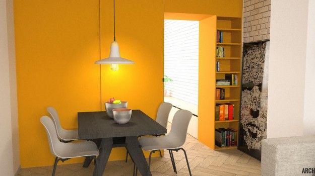 Návrh jedálne - Interiér a rekonštrukcia 2-izbového bytu, Tokajícka, Bratislava - Interiérový dizajn / Dining room interior by Archilab