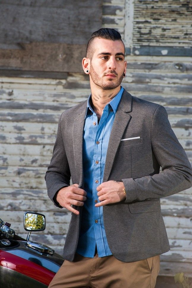 Men's Slim Fit Casual Blazer – Grey $94.95 #Blazers&Jackets #www.sieteclothingco.com.au