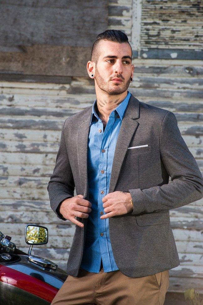 Men's Slim Fit Casual Blazer – Grey $94.95 #Blazers&Jackets #www.sieteclothingco.com.au