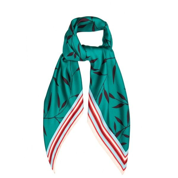 c27d9080e660 Diane Von Furstenberg Shelton-print silk scarf (640 SAR) ❤ liked on  Polyvore featuring accessories