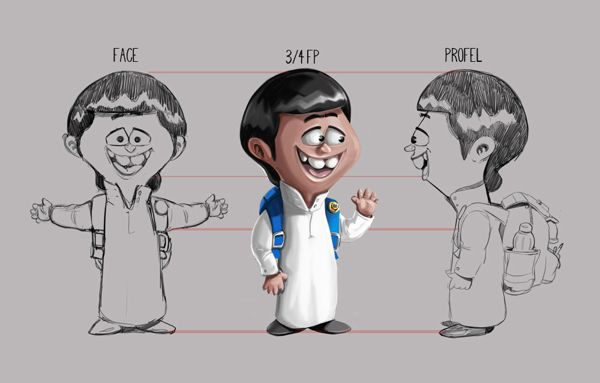 Character Design Profile : Kid character design keeping a good profile art tutorial