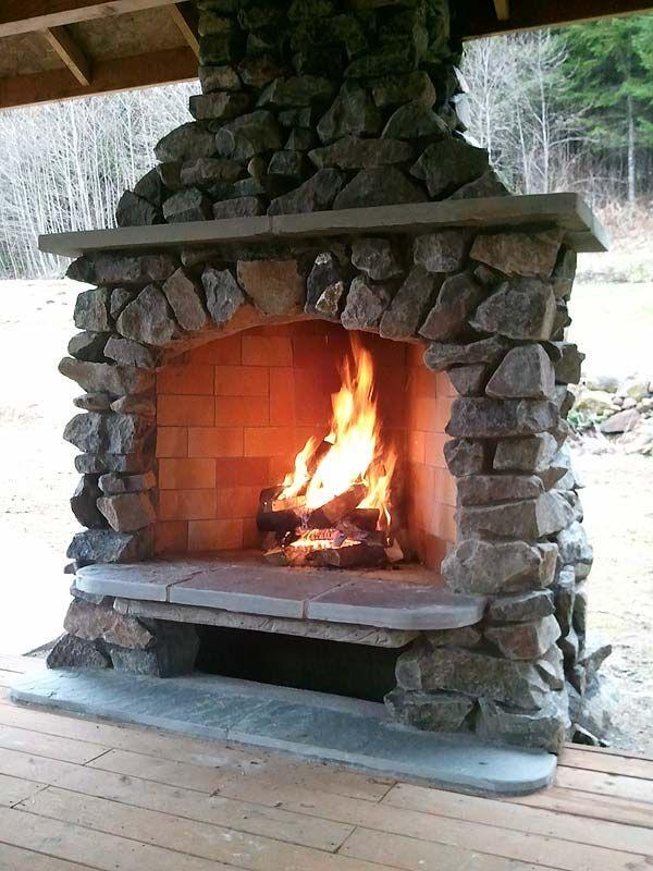 R U S T I C CᎧɱfᎧrt~ Outdoor Stone Fireplace