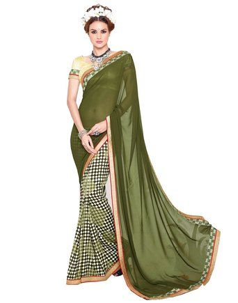 Saiveera Fashion New Gorgeous Mehandi Colour Casual wear Saree_Priya82 Saiveera Fashion is a Popular brand in Women's Clothing. Saiveera Fashion is produce many types of Women's Clothes like Anarkalis Salwar Suit, Patialas Salwar Suit, Straight Salwar Suit, Palazzos, Sarees, Churidars, etc. For any Query Contact/Whatsapp on +91-8469103344