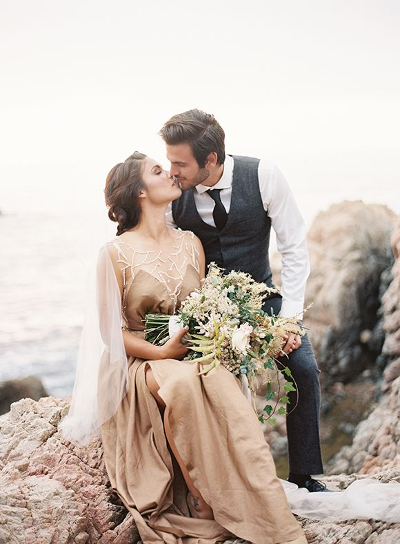 Gold and Blue Coastal Wedding Inspiration: Styled by Type A Society Photography by Tec Petaja
