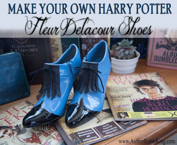 How to Make the Fleur Delacour Beauxbatons Shoes:  Step 1: Find a pair of old shoes with a pointed toe and heel. An oxford would be th...