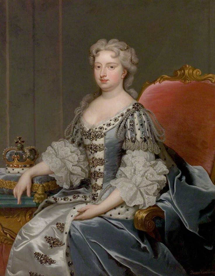 Caroline of Brandenburg-Ansbach, b.01 March 1683 d.20 November 1737, daughter of John Frederick of Brandenburg-Ansbach & Eleonore Erdmuthe of Saxe-Eisenach, wife of George II and Queen Consort. Nine children.