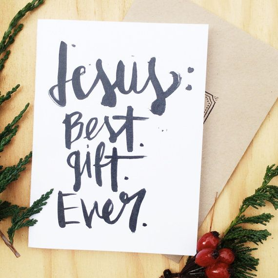 Christian Christmas card religious Jesus: best gift ever by TheHipsterHousewife