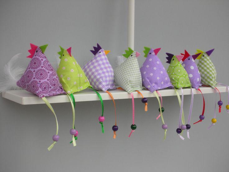 8 Hühner Huhn von Firlefanz-Design auf DaWanda.com