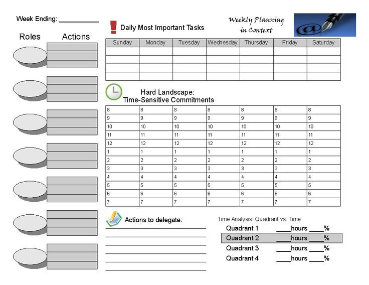 franklin covey planner templates - weekly planner 7 habits google search time management
