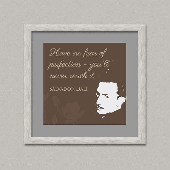 DALÌ QUOTE Wall Decor Printable Digital Artwork by OopsyIdeas