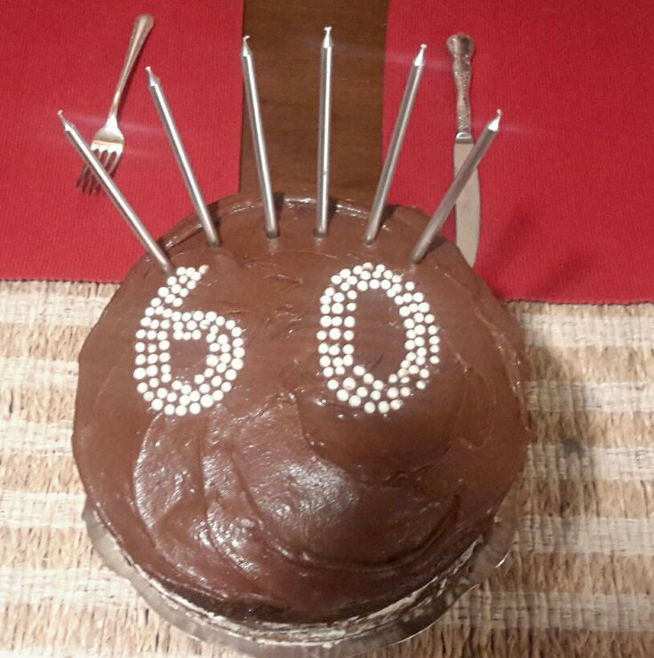 A quick chocolate cake for my 60th.