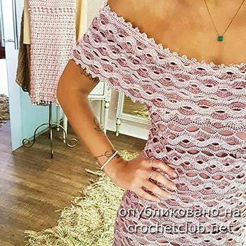 платье крючком wave