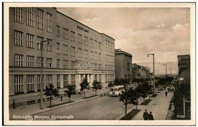 Ul. 10 Lutego budynek poczty Wyd. Erich Baumgart Kartka wysłana 05.02.1943