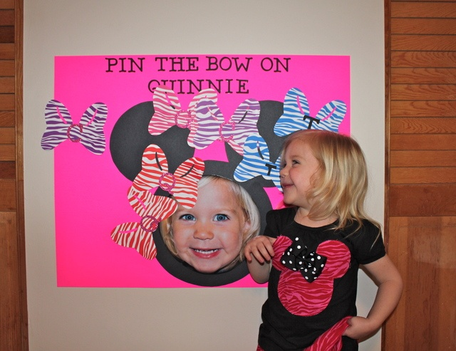"Photo 3 of 20: Minnie Mouse Zebra/Hot Pink / Birthday ""Minnie Mouse Clubhouse Party"" 