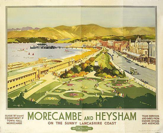 Morecambe and Heysham on the sunny Lancashire Coast - 1949 - (Claude Buckle) -