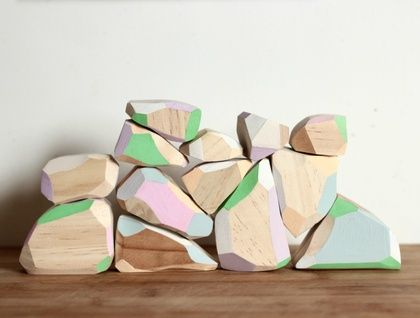 Wooden gems/blocks