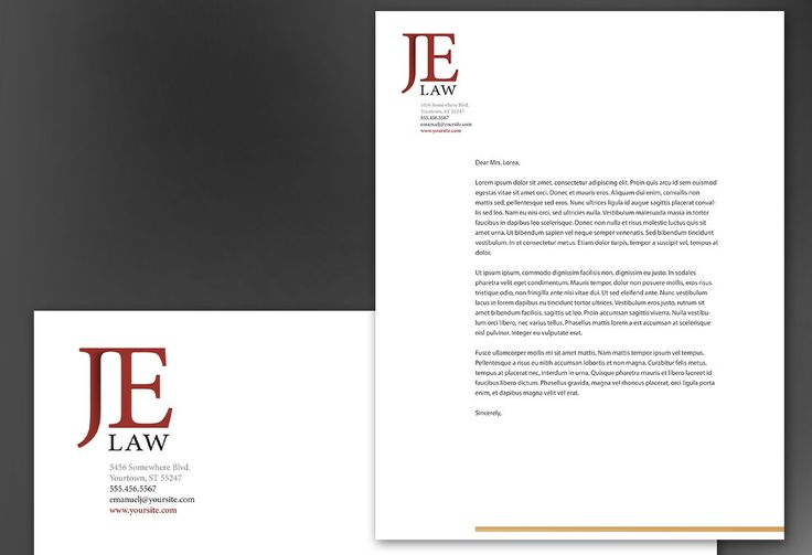 Attorney Law Firm Letterhead Design Layout