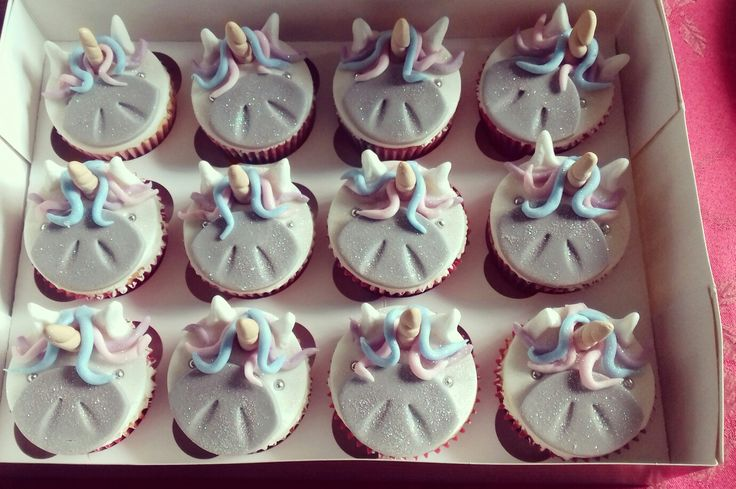 Ist try at unicorn cupcakes x