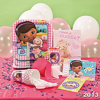 The Doc is in! Celebrate her party with Doc McStuffins!