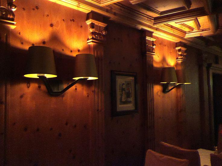 """Das ist die neue Beleuchtung in unserer Zirbenstube. Wie gefällt sie euch?  That's the new lighting in our """"Zirbenstube"""". How do you like it?  Questo é la nuova illuminazione nella nostra """"Zirbenstube"""". Che cosa ne dite?  #Hotel #Innsbruck #Restaurant #Ziebenstube #Beleuchtung #Lighting #Luxus #luxurious #genießen #Bestestimmung #athmosphäre #atmosfera #atmosphere"""
