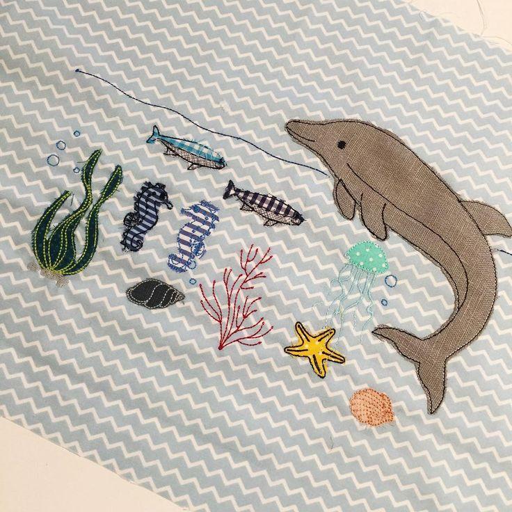 """Gefällt 115 Mal, 2 Kommentare - Mika // Du liebst es (@duliebstes) auf Instagram: """"Underwaterlove  • • #kissen #pillow #stickherz #underwater #embroidery #sticken #v3 #sewing…"""""""