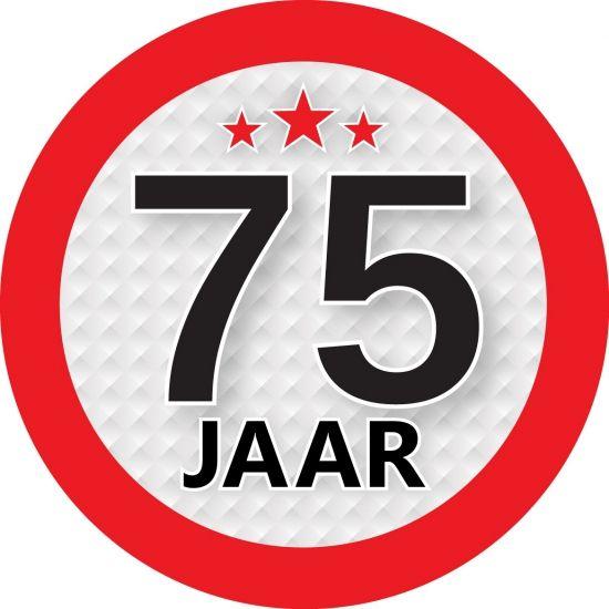 75 Jaar Sticker Rond Een Leuke Ronde Sticker Met Een