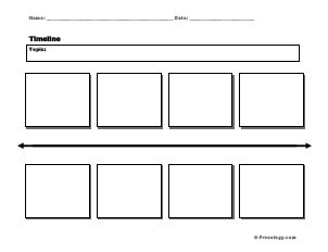 Horizontal timeline with boxes to draw pictures or write events.  Great to use for notebooking or just any time you want your student to show the sequence of events over a short time span.
