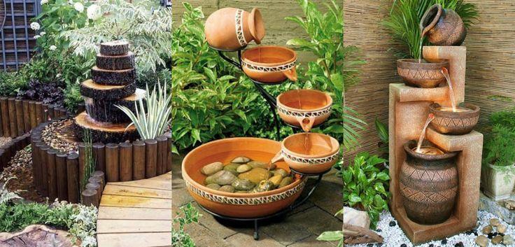 12 inspirações de fonte de água para decorar o seu jardim